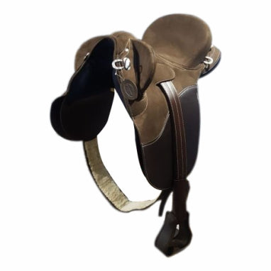 Brown- Outback Spirit- Synthetic stock Saddle- Fully Mounted