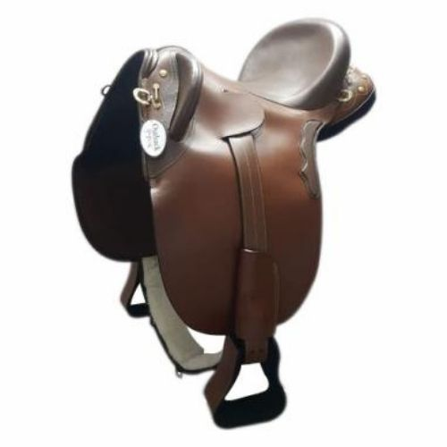 Brown Leather - Stock Saddle fully Mounted