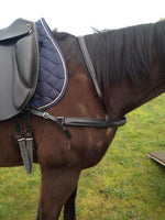 Black Leather Dressage Breastplate
