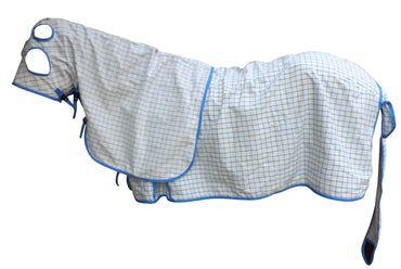 Aqua Blue Check Cotton Ripstop Show Set