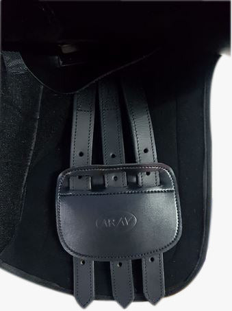 ARAV- CHANGEABLE GULLET- BLACK- All General Purpose Synthetic English Saddle-  With 4 Gullet set - Size 16/17/18