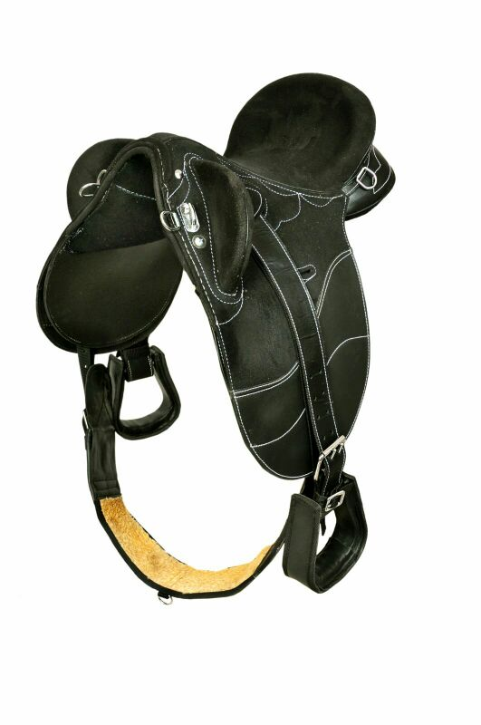Kids-Black- Synthetic stock saddle