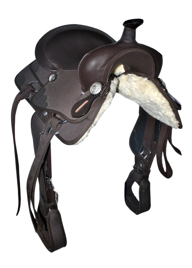 Kids-Brown- Synthetic Western Saddle