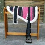 Pink Navajo Print Padded Bareback Pad with Girth and detachable stirrups