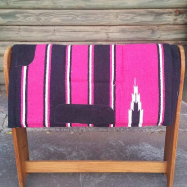Pink-Navajo Print–Padded Saddle Pad With Fleece Linning