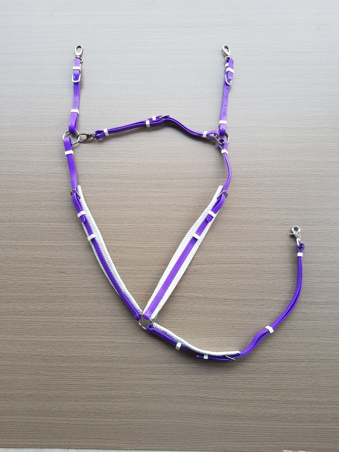 PVC-Purple-White-Padded Breastplate