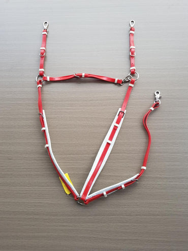 PVC-Red-White-Padded Breastplate