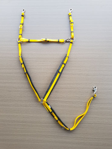 PVC-Yellow-Black-Padded Breastplate