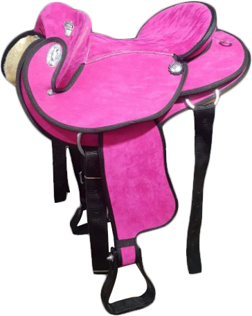 Pink-Synthetic Suede-Half Breed-Swinging Fender Saddle