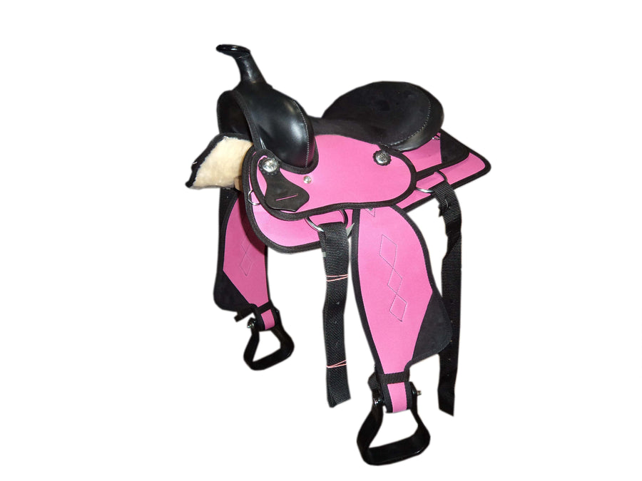 Pink Little Synthetic Western Saddle