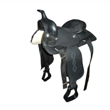 Black Little Synthetic Western Saddle