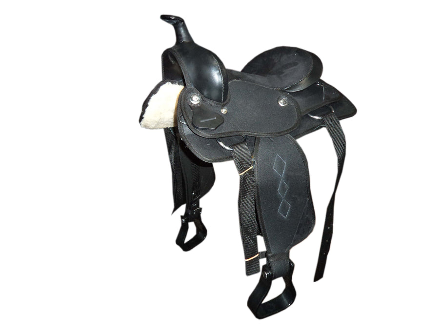 Kids-Black- Synthetic Western Saddle