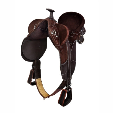 Brown-Synthetic Stock Saddle With horn