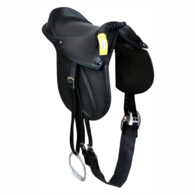 Kids / Child - PONY PAD / Cub Saddle Fully mounted with stirrups, girth & Straps