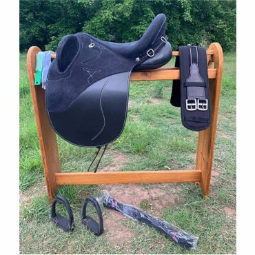 Changeable Gullet - Black-Fully Mounted Stock Saddle with 3 easy change ( Narrow / medium / wide Gullet)