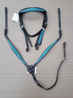 Western Blue Weave Bridle Breastplate Set