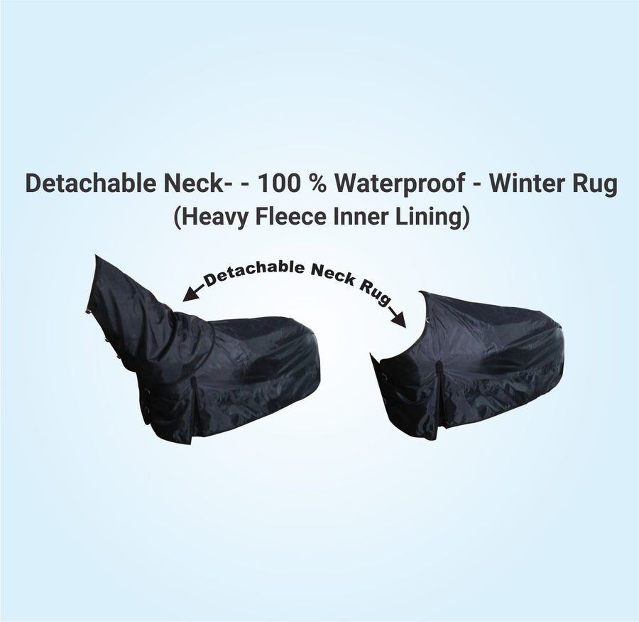 Detachable Neck- 100% waterproof - 600 Denier Ripstop Combo - with heavy fleece Underside
