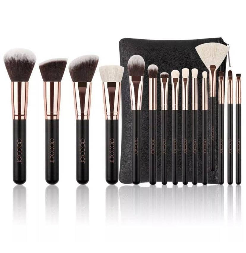Rose Gold Brush Set with Bag