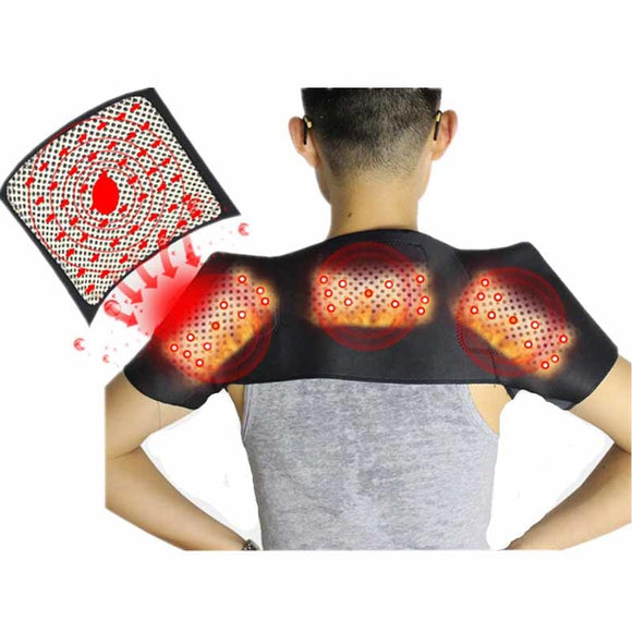 Tourmaline Self-heating Shoulder Support Massager Magnetic Cervical Frozen Shoulder Pad Massage