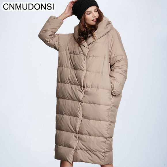 Women's Winter Fashion Jacket Thick Warm Coat Long Parka UBTK CNMUDONSI