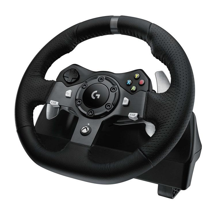 Volante y Pedales Logitech Force Racing G920 XBOX ONE PC MAC - Mundo Electro