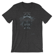 Ayn Rand Civilization (Dark Cotton-blend Unisex T-Shirt)