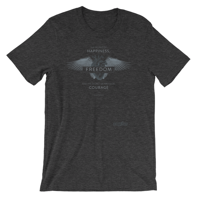 Thucydides Courage (Dark Cotton-blend Unisex T-Shirt)