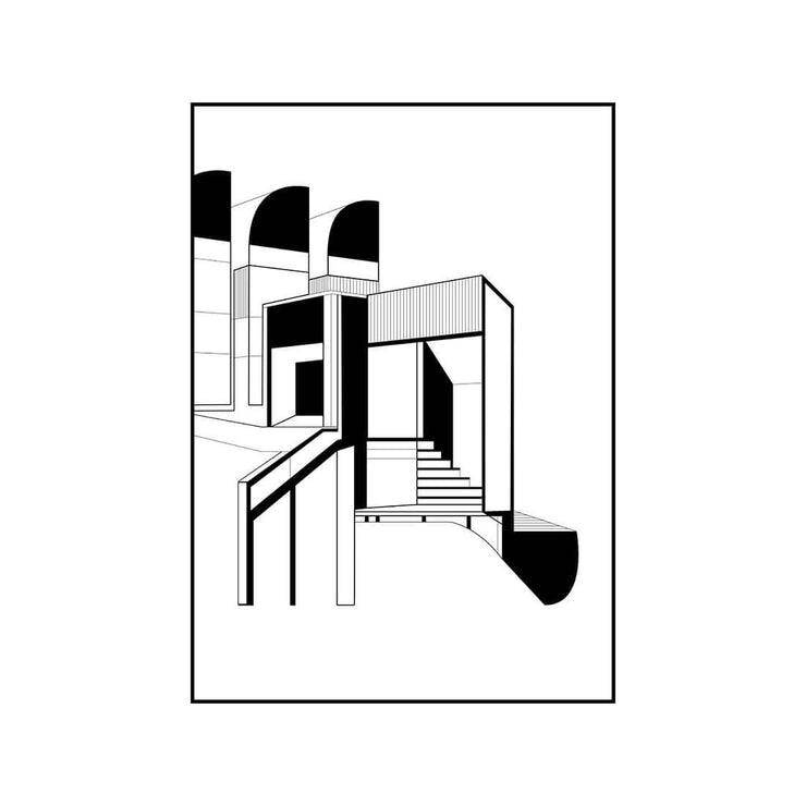 illustration of Bauhaus designed by danish designer Kristina Dam
