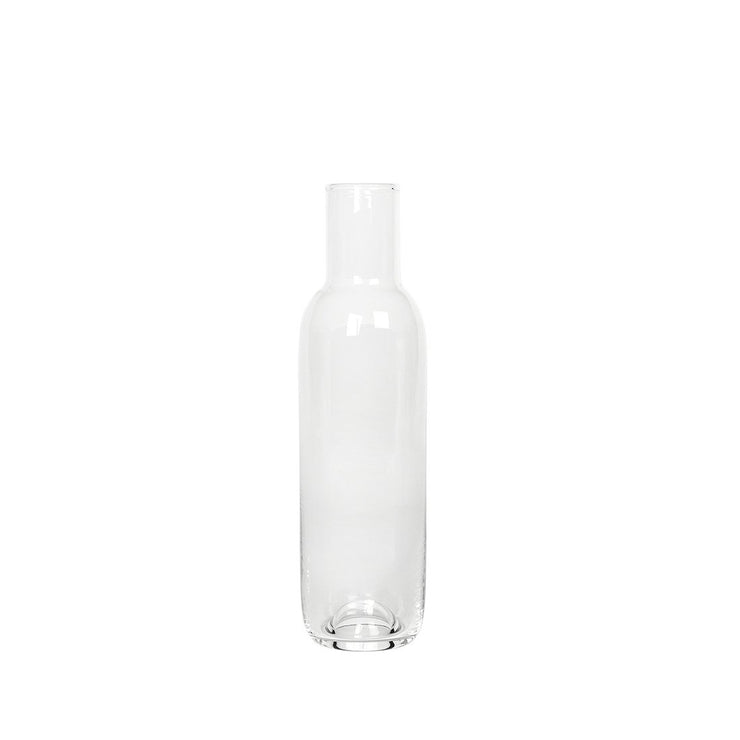 Hand blown high quality clear glass carafe kristina dam studio