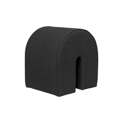 Kristina Dam Studio curved pouf black leather