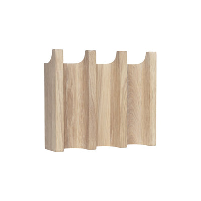 Kristina dam studio column coat rack small oak coat rack