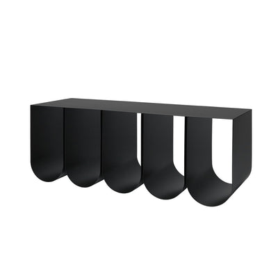 Black entryway storage bench danish design kristina dam studio