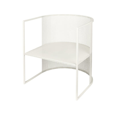 Kristina Dam Studio bauhaus lounge chair white steel lounge chair