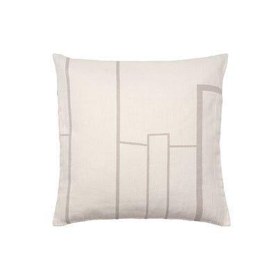Kristina Dam Studio Architecture Cushion, Off-White/Beige, Large