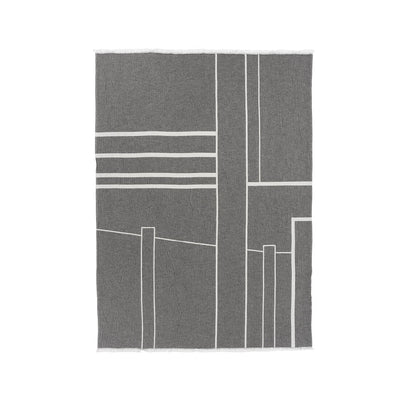 Kristina Dam Studio Architecture Throw, Black/Off-White