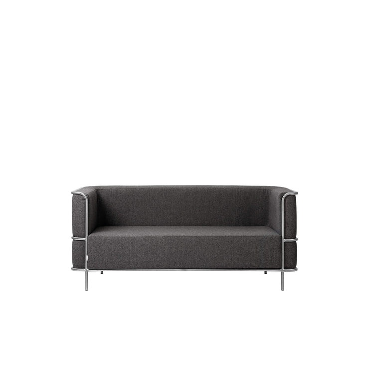 Kristina Dam Studio Modernist Sofa 2-Seater, Grey Wool