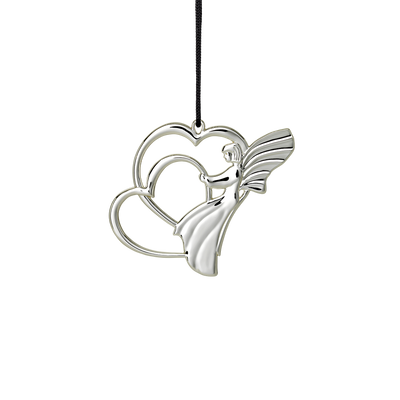 "Rosendahl Angel Heart, 2.7"", Silver Plated"