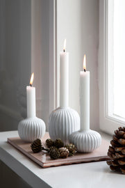 "Kähler-Hammershøi-Candle-Holder-White-3""-3 Pcs."
