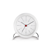 Bankers Alarm Clock, White