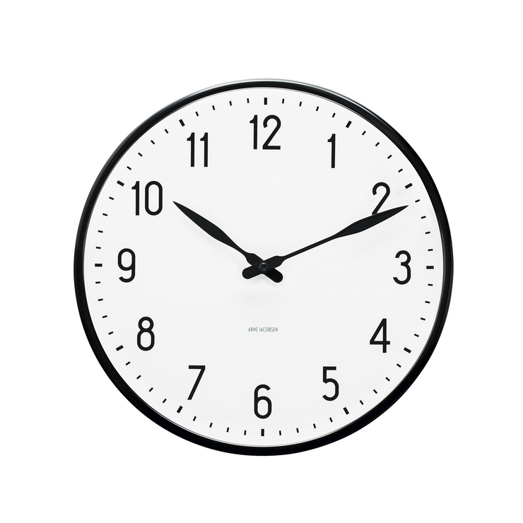 Arne Jacobsen Station Wall Clock, 11.4""