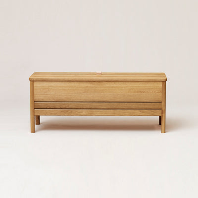 Form & Refine A Line Storage Bench, Oak