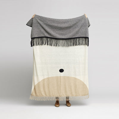 Form & Refine Aymara Plaid, Pattern Cream