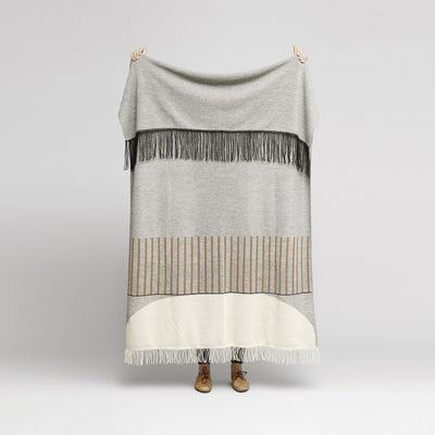 Form & Refine Aymara Plaid, Pattern Grey