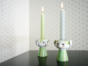 Bjørn Wiinblad Eva Candle Holder, Light Green