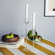 Tulip Candlestick, Clear