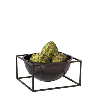 By Lassen Bowl Centerpiece, Large, Burnished Copper