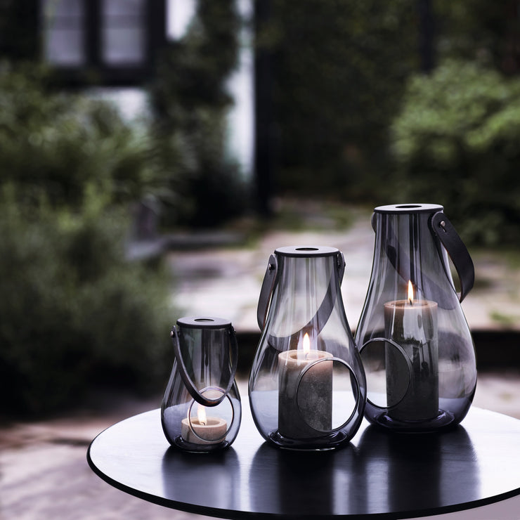 Design with Light Smoke Lantern, 9.8""