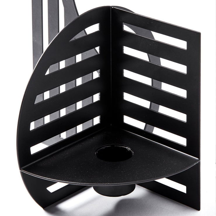 Simple and lightweight details from black Powder Coated Steel Dash candlestick