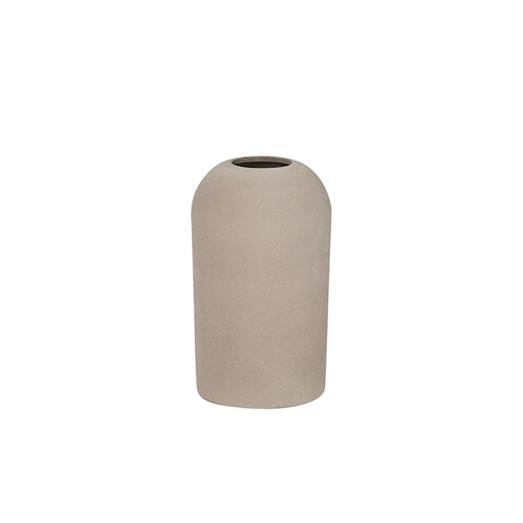 Medium Dome vase from terracotta with a beautiful grey engobe slip