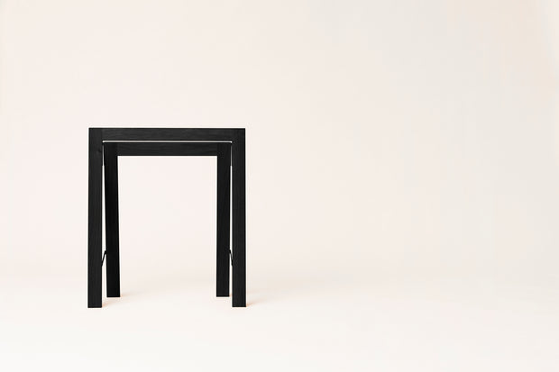 Form & Refine Austere Trestle, Set of 2, Black-stained Oak